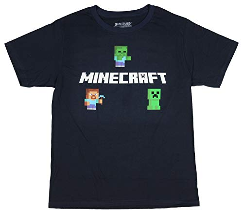 Minecraft Boys Graphic Tee Steve, Zombie Creeper (Small / 6-7)