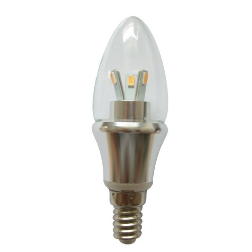 Light Chandelier Candlelight (LED E14 5W Warm White LED Candle Light Lamp LED Chandelier Candelabra Base, 120V Non-dimmable PACK OF 10)