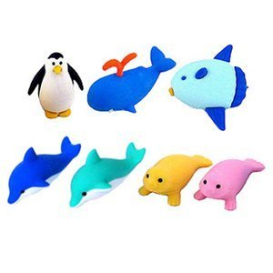 Iwako Marine Animal Erasers 7Pc product image