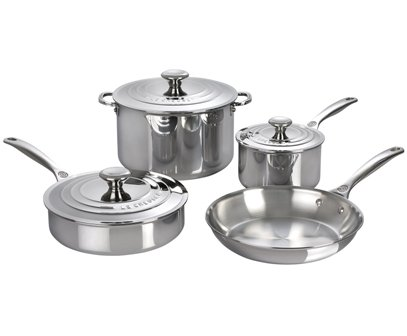 Le Creuset 7 Piece Stainless Steel Cookware Set