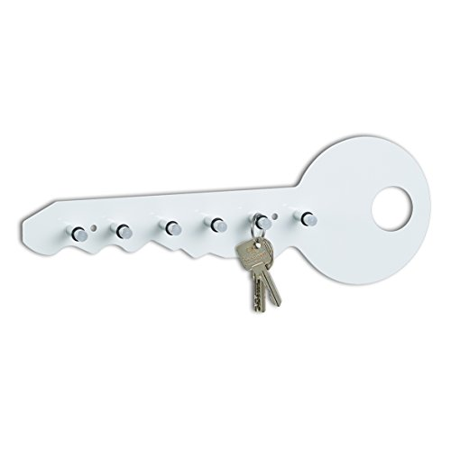 Zeller 13851 - Colgador de llaves con forma de llave, 35 x 4 x 12 cm, color negro