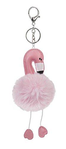 Ganz Purse or Backpack Accessory Keychain Key Fob Ring - Flamingo Fun