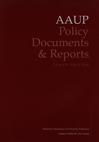AAUP Policy Documents and Reports (American Association of University Professors) 10th edition by AAUP (2006) Paperback