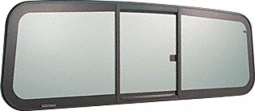 C.R. LAURENCE BRW1852 CRL Tri-Vent Three Panel Big Rig Slider with Solar Glass 2001+ Navistar (International) Conventional Cabs