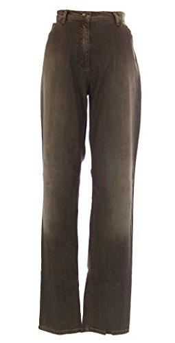 852761a0297 hot sale MARINA RINALDI by MaxMara Wami Brown Straight Leg Jeans ...