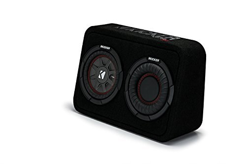 Kicker TCWRT672 CompRT 6.75'' Subwoofer in Thin Profile Enclosure 2ohm 150W
