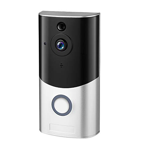Video Doorbell, Smart Wireless Wifi Doorbell Camera 1080P HD, Home Security Camera with Real-Time Video, Two-Way Talk, Night Vision, PIR Motion Detector App Control for iOS Android