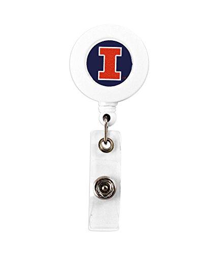 NCAA Illinois Fighting Illini Sports Team Logo Retractable Badge Reel Id Ticket ()