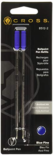 Cross 85122 - Refills for Ballpoint Pens, Fine, Blue Ink, 2/Pack-CRO85122