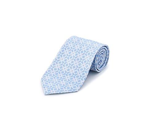 Bolvaint - Tabit Blue on White Silk Tie by Bolvaint