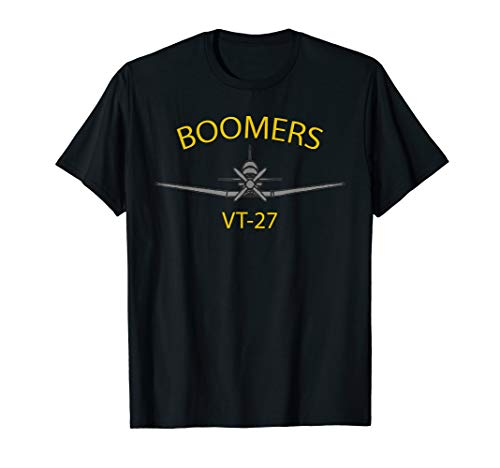 """VT-27 """"Boomers"""" Training Squadron 27 T-6 Texan II T-shirt for sale  Delivered anywhere in USA"""