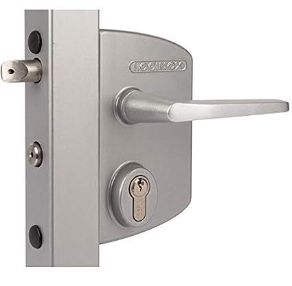 Cerradura con llave para puerta industrial, poste cuadrado 10 A 30 ...