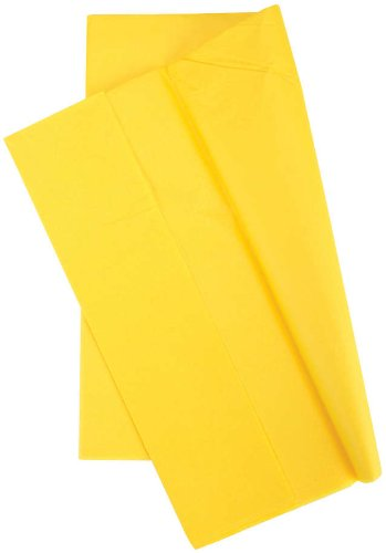 Cindus Tissue Wrap, 20 by 20-Inch, Canary Yellow 10/Pkg