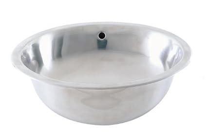 DECOLAV 1300 B Taji Stainless Steel Oval Drop In Or Undermount Lavatory Sink  With