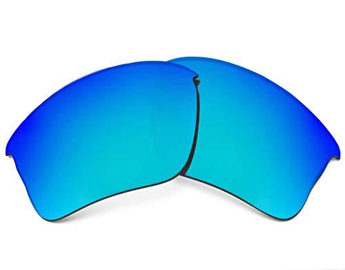 Replacement Lenses Compatible with OAKLEY Flak Jacket XLJ Polarized Blue Mirror
