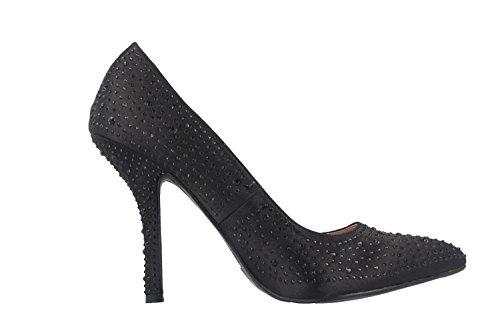 ANDRES MACHADO - Damen High Heels Pumps - Schwarz Schuhe in Übergrößen