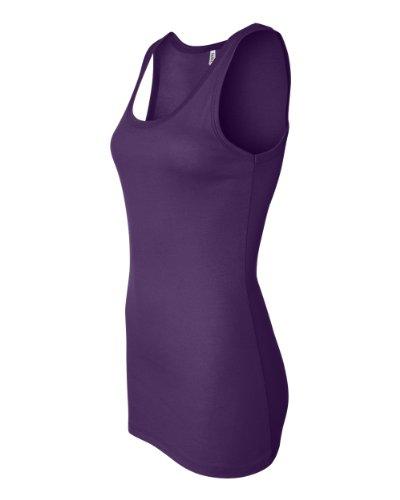 Longitud de la camiseta de traje de neopreno para mujer Bella para escribir encima con bordes por más tiempo sin mangas de mujer. 8780 Team Purple