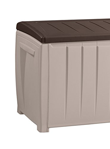Keter Novel Plastic Deck Storage Container Box Outdoor Patio Furniture 90 Gal, Brown by Keter (Image #6)