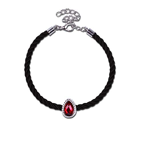 Tea language Popular Ancient Silver Crystal Beads Lucky Red Rope Lovers Bracelet for Man Woman Female Bracelet
