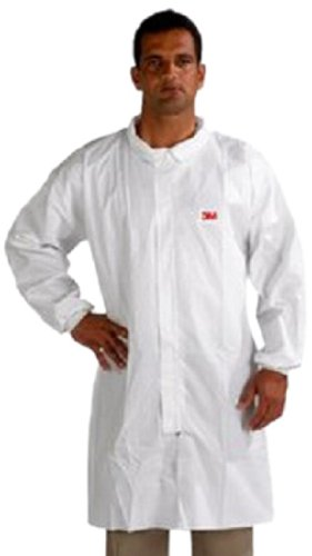 3M Disposable Lab Coat 4440, Polypropylene, Extra Large, Whi