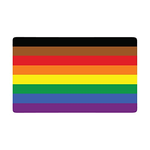 All Inclusive Gay LGBT Pride Flag - (5in Wide) Full Color Vinyl Decal for Indoor or Outdoor use, Cars, Laptops, Décor, Windows, and more