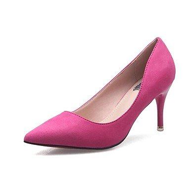 Talones de las mujeres Zapatos Primavera Verano Otoño Invierno club Comfort PU Suede Oficina boda y carrera vestido de tacón de aguja OthersBlack Rosa Gris Fuchsia