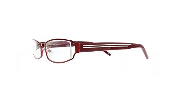 9b66cecb91 Amazon.com  EyeBuyExpress Bifocal Reading Glasses Burgundy Half Rim Metal Mens  Womens Rectangle  Health   Personal Care