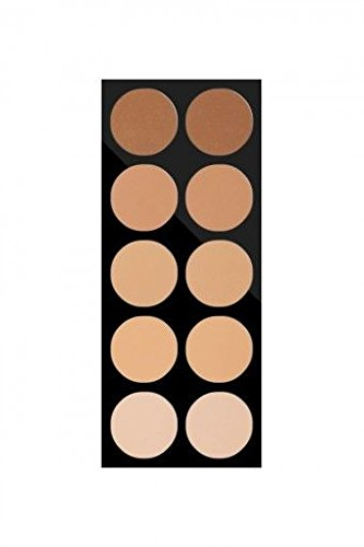 Pierre Rene Professional Make-Up - Compact Powder Palette - 10 high pigmented face powders for all skin tones. Professional Use only