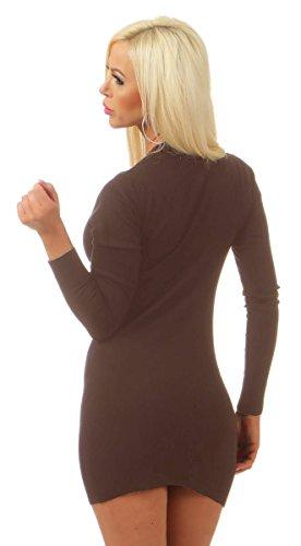 Longues Fashion4Young Olive Femme Manches Pull nOqHWq0aU