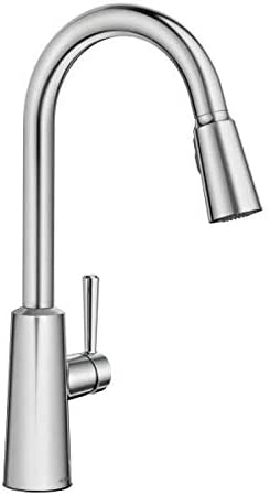 Moen 7402C Moen 7402 Riley Pull-Down Spray High-Arc Kitchen Faucet with Reflex and Power Cl