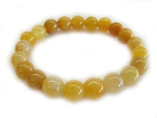 Yellow Jade Beaded Bracelet (Yellow Jade Beaded Bracelet)