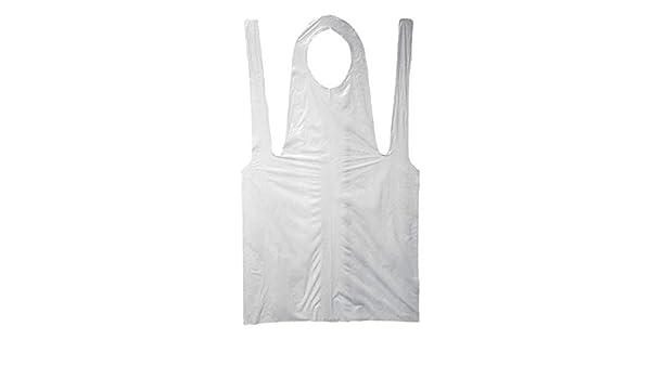 "3 Bags - 300 Pieces 28/"" x 46/"" White Economy Disposable Poly Apron 2 Mil"