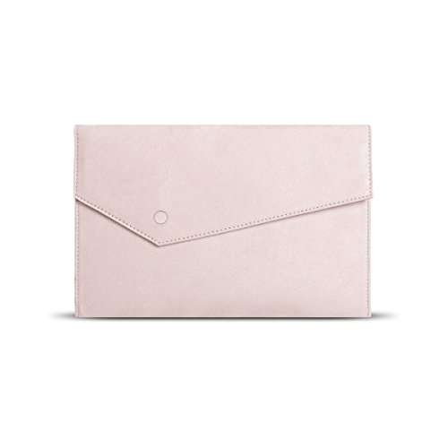 Magnet Faux Pocket Hook with Chain Envelope Clutch Strap Purse GESSY Pink1 Women Suede 0Pqx8gg5