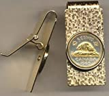 Canadian Nickel ÒBeaverÓ Two Toned Coin Hinged Money Clip