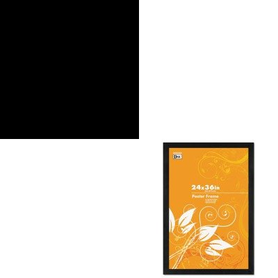 KITABAPMFESTYCHDAX2863U2X - Value Kit - Alba Stylish Festival floor coat stand, Chrome (ABAPMFESTYCH) and DAX MANUFACTURING INC. Black Solid Wood Poster Frames w/Plastic Window (DAX2863U2X)