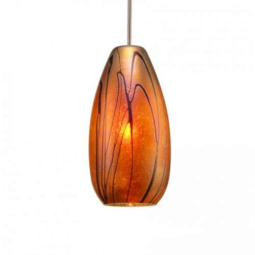 Enchantment Pendant 1 Light - WAC Lighting MP-LED954-IR/BN Willow LED Pendant Fixture with Brushed Nickel Canopy, One Size, Iridescent
