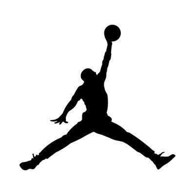 LI Firenze Michael Jordan Sticker Decalcomanie Adesivo prespaziato Senza Fondo in Vinile Colore Nero Lucido, 10 Centimetri.