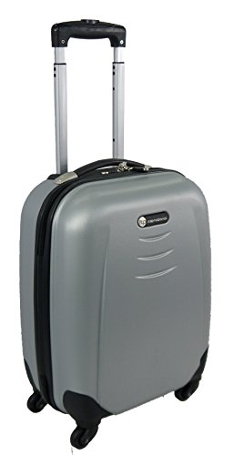 """ABS 4 Wheels Spinner Hard Shell Luggage (19"""" Cabin case, Silver)"""