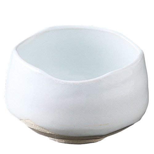 Matcha bowl 4.53''dia. Japanese tea cup for tea ceremony, Made in Japan, White M5913032 by Mino Ware