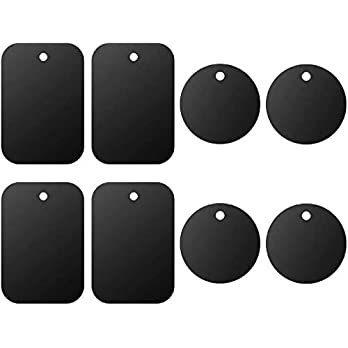Universal Metal Plate 8 Pack for Magnetic Phone Car Mount Holder Cradle with Adhesive (Compatible with Magnetic Mounts…