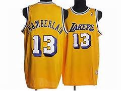 Wilt Chamberlain LA Lakers Hardwood Classics Throwback Jersey Gold Men's All Sizes