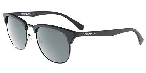bb7ae42cb248 Emporio Armani Mens Sunglasses (EA4072) Black Matte Grey Plastic -  Non-Polarized