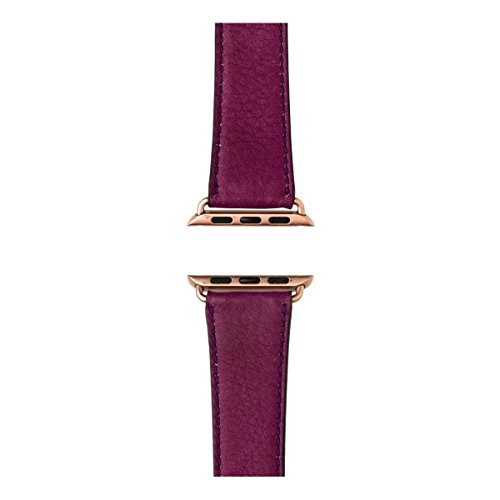 Roobaya | Premium Sauvage Leather Apple Watch Band in Purple | Includes Adapters matching the Color of the Apple Watch, Case Color:Rose Gold Aluminum, Size:42 mm by Roobaya (Image #3)