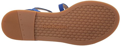 Hush Puppies Womens Abney Chrissie Lo Gladiator Sandalo In Camoscio Color Cobalto