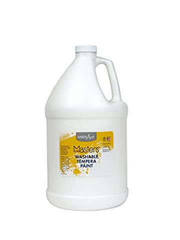 Handy Art Little Masters Washable Tempera Paint Gallon, White (White Paint Tempera)