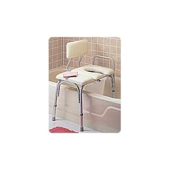 Amazon Com Carex Padded Tub Transfer Bench With Commode