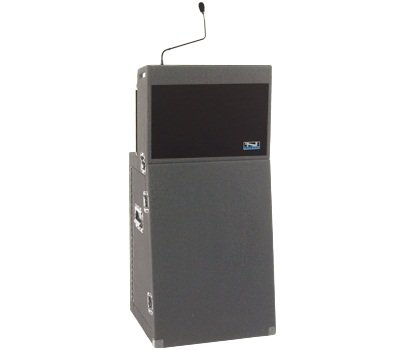 m Lectern Deluxe Package w/ 2 Lapel Mics, Gray, ACL-DP (Deluxe Lectern)