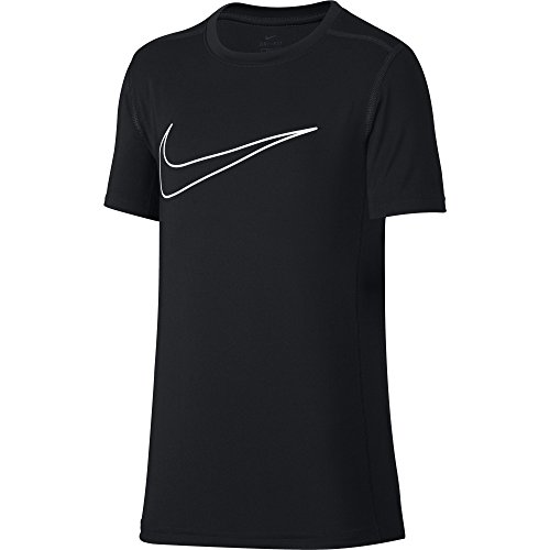 NIKE Boys' Short-Sleeve Training Shirt, Black, X-Large ()
