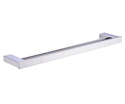 TRUSTMI JP8002PL 304 Stainless Steel Bathroom Double Towel Bar Rail Holder,Polished Stainless Steel