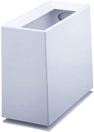 LCNING プラスチック製のゴミ箱のバスルーム超狭いバスルームクリエイティブホームキッチントイレの長方形のリビングルーム紙のゴミ箱バスルーム用のコンテナビン組織の保管 (色 : 白)